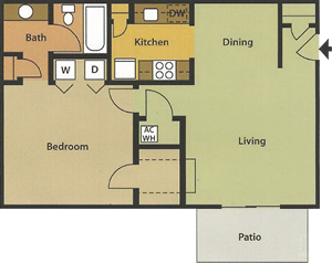 One Bedroom / One Bath - 700 Sq. Ft.*